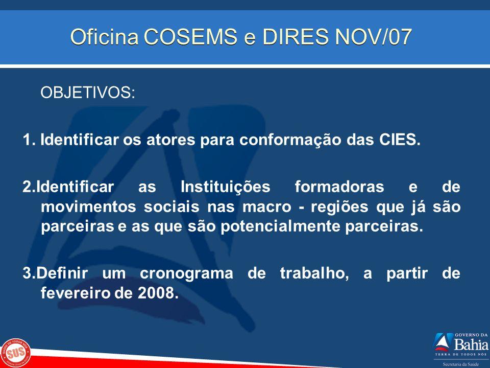 Oficina COSEMS e DIRES NOV/07