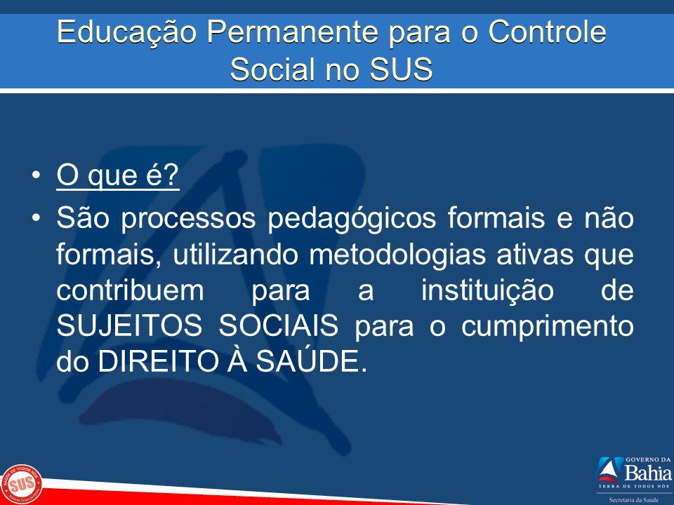 Educação Permanente para o Controle Social no SUS