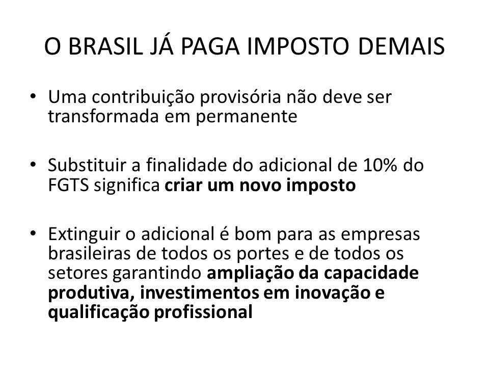 O BRASIL JÁ PAGA IMPOSTO DEMAIS