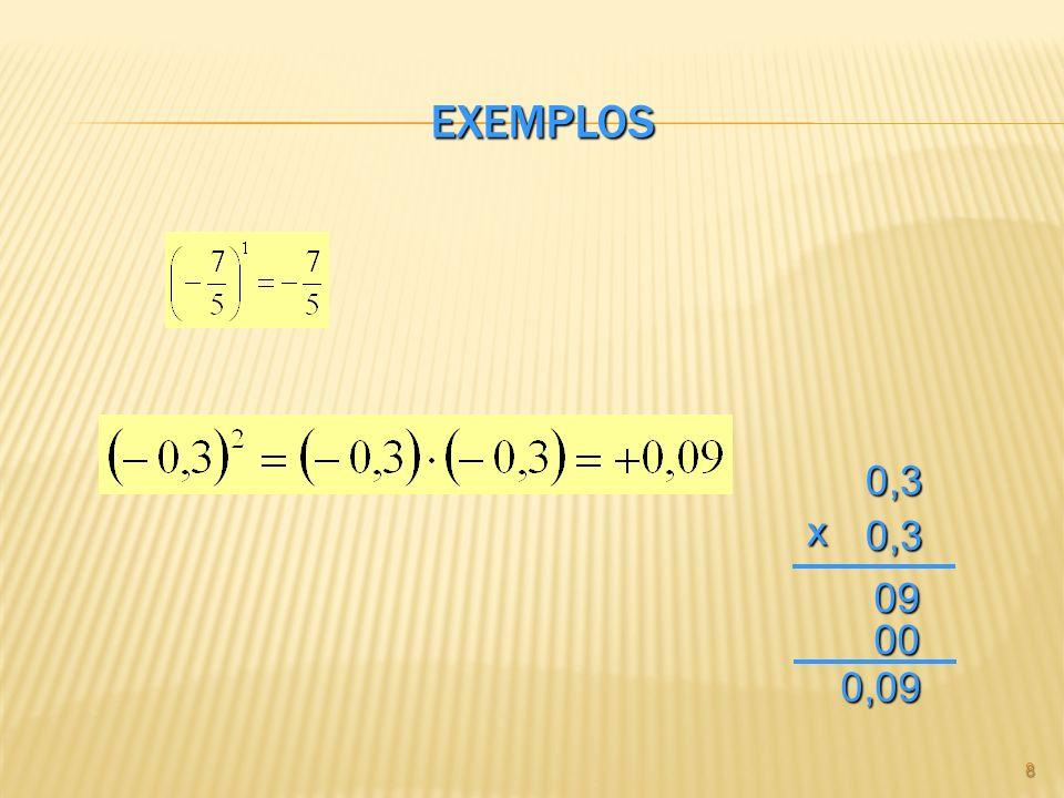 Exemplos 0,3 x 09 00 0,09