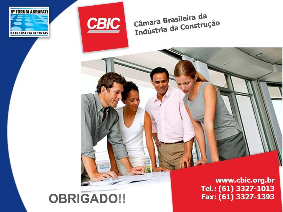 OBRIGADO!! Câmara Brasileira da Indústria da Construção