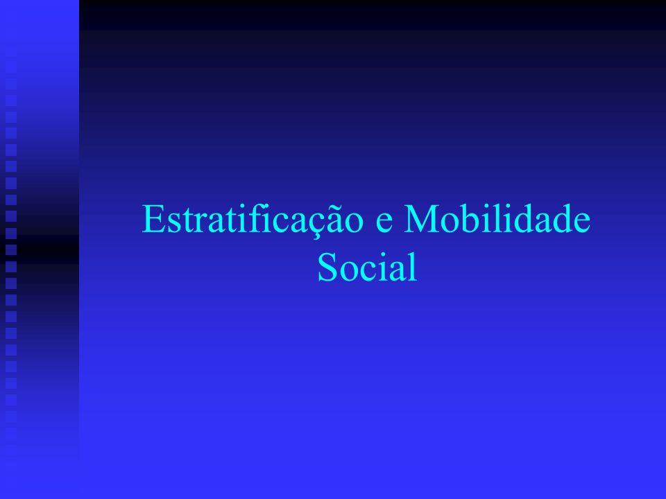 Estratificação e Mobilidade Social