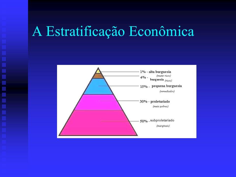 A Estratificação Econômica