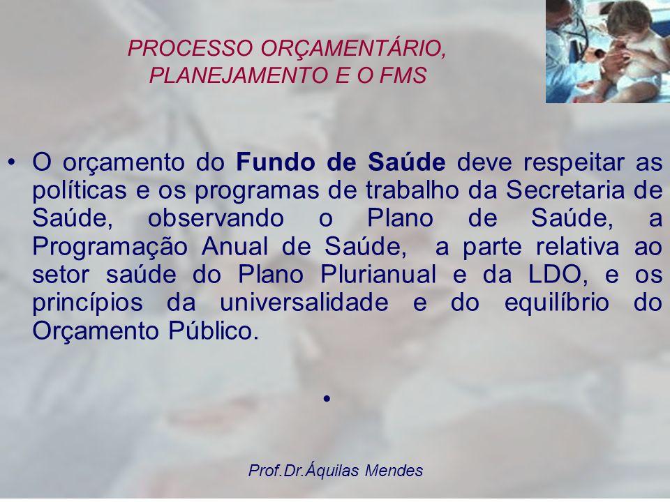 PROCESSO ORÇAMENTÁRIO, PLANEJAMENTO E O FMS
