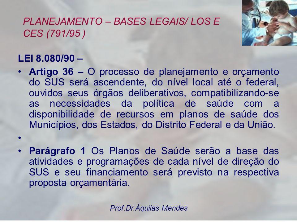 PLANEJAMENTO – BASES LEGAIS/ LOS E CES (791/95 )