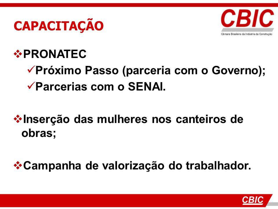 CAPACITAÇÃO PRONATEC Próximo Passo (parceria com o Governo);