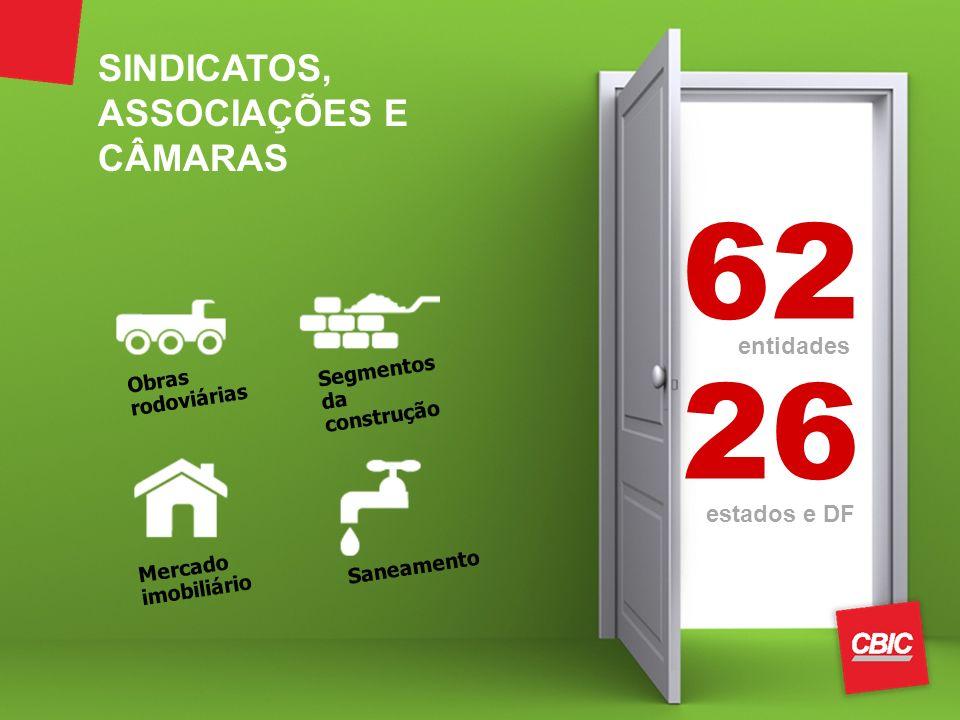 62 26 SINDICATOS, ASSOCIAÇÕES E CÂMARAS entidades estados e DF