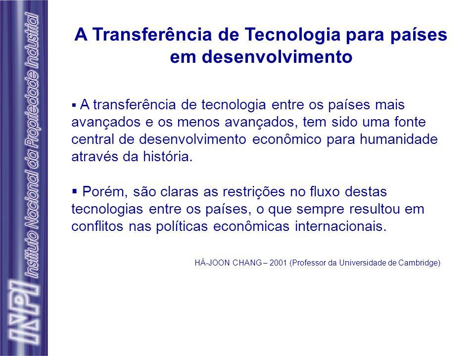 A Transferência de Tecnologia para países em desenvolvimento