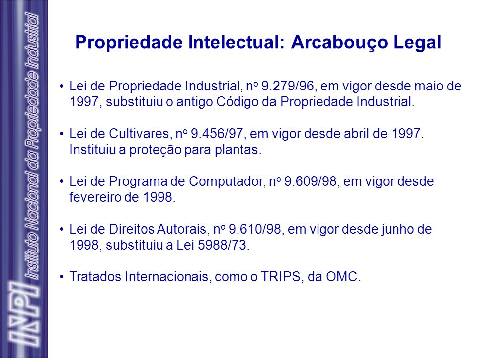 Propriedade Intelectual: Arcabouço Legal