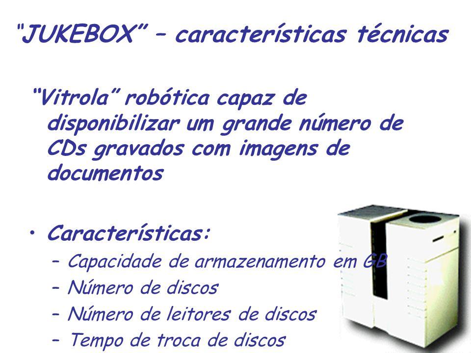 JUKEBOX – características técnicas