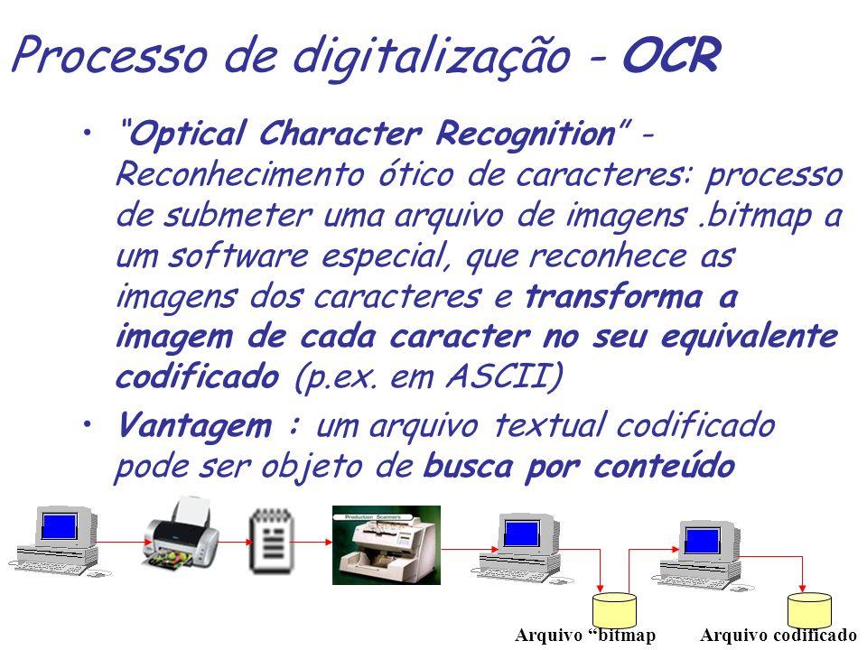 Processo de digitalização - OCR