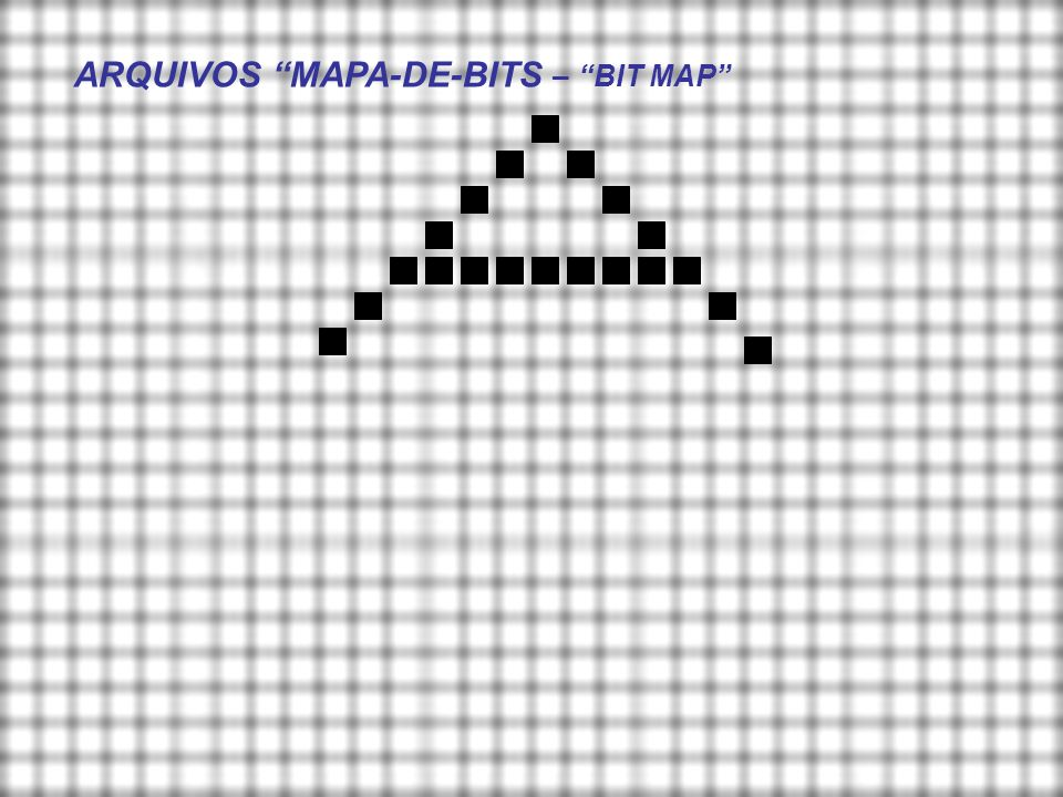 ARQUIVOS MAPA-DE-BITS – BIT MAP