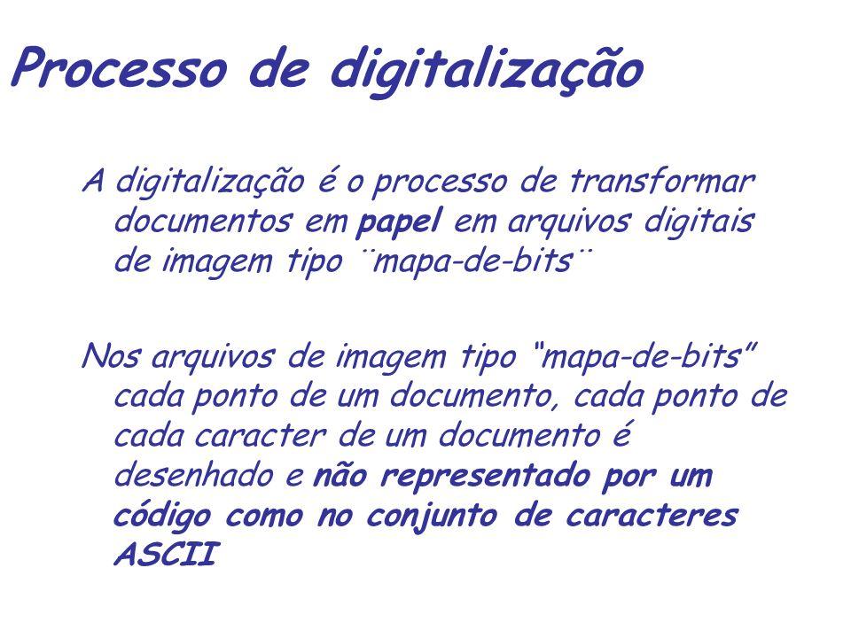 Processo de digitalização