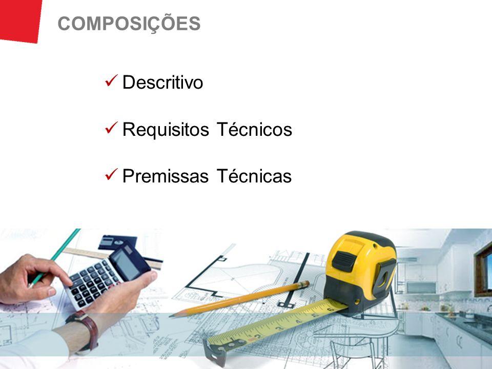 COMPOSIÇÕES Descritivo Requisitos Técnicos Premissas Técnicas