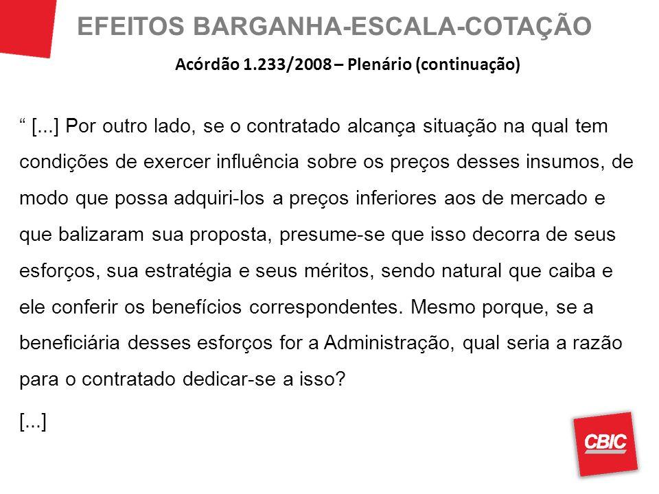 EFEITOS BARGANHA-ESCALA-COTAÇÃO