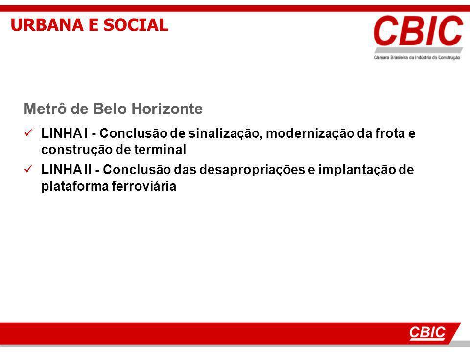 URBANA E SOCIAL Metrô de Belo Horizonte