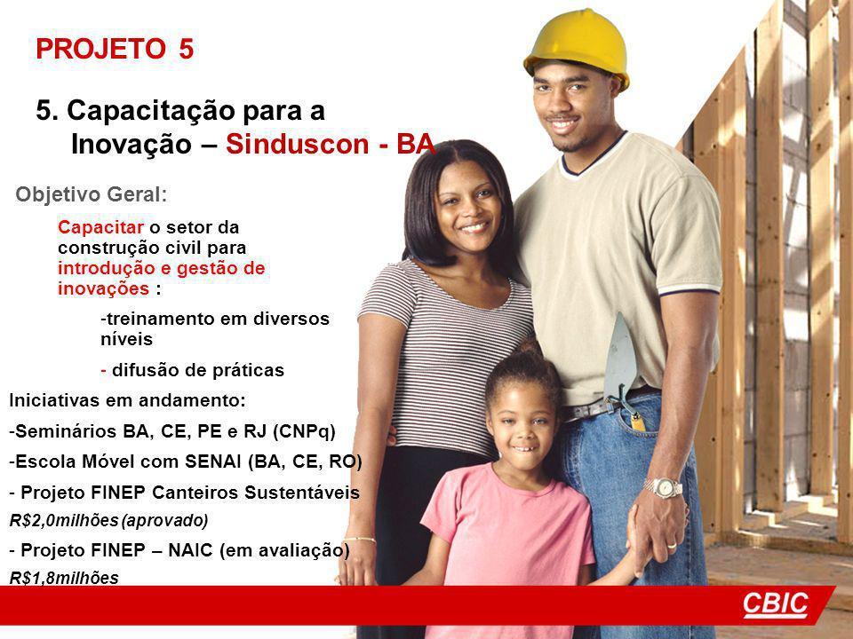 5. Capacitação para a Inovação – Sinduscon - BA