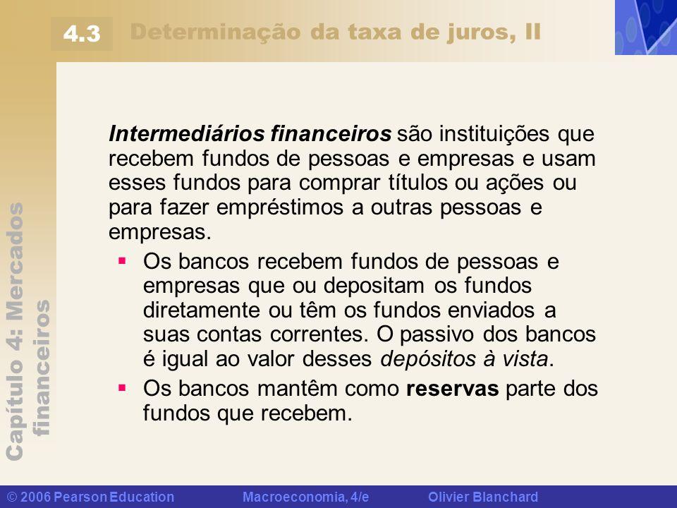 Determinação da taxa de juros, II