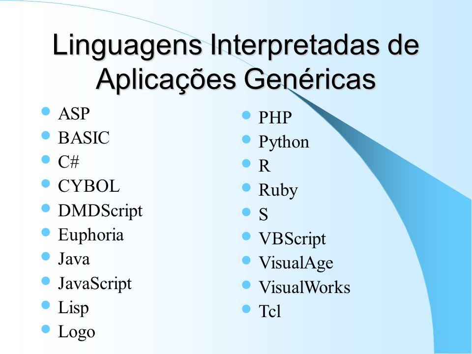 Linguagens Interpretadas de Aplicações Genéricas