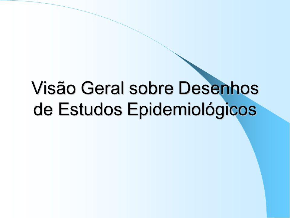 Visão Geral sobre Desenhos de Estudos Epidemiológicos