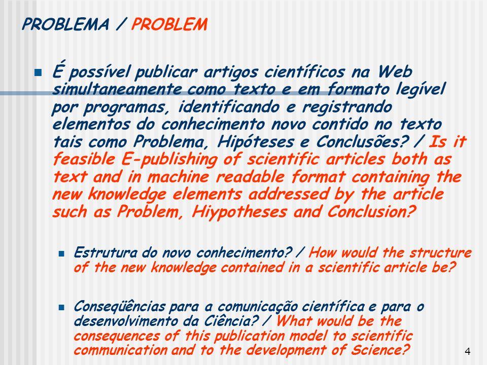 PROBLEMA / PROBLEM