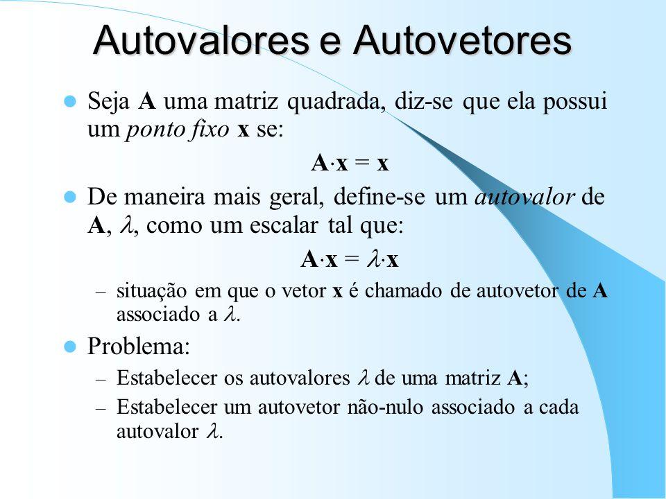 Autovalores e Autovetores