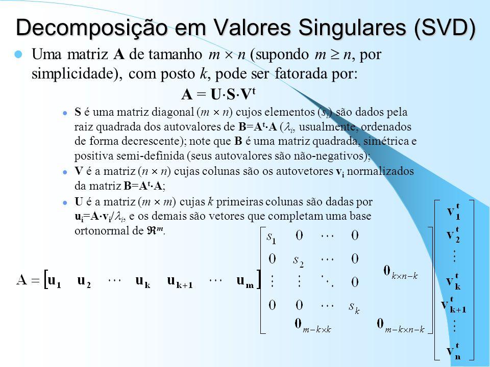 Decomposição em Valores Singulares (SVD)