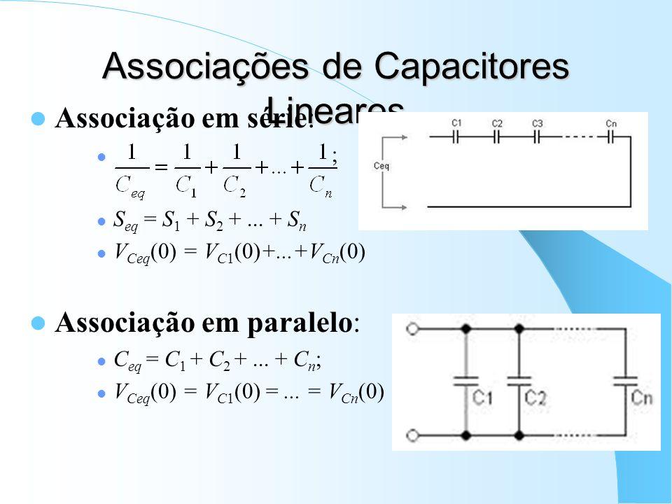 Associações de Capacitores Lineares