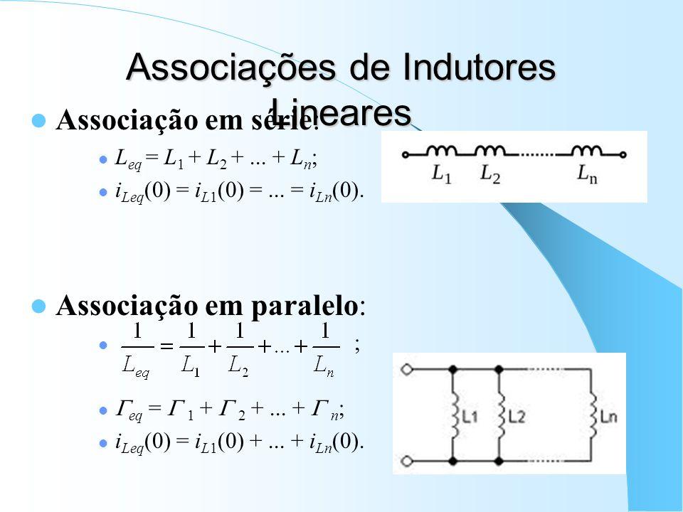 Associações de Indutores Lineares