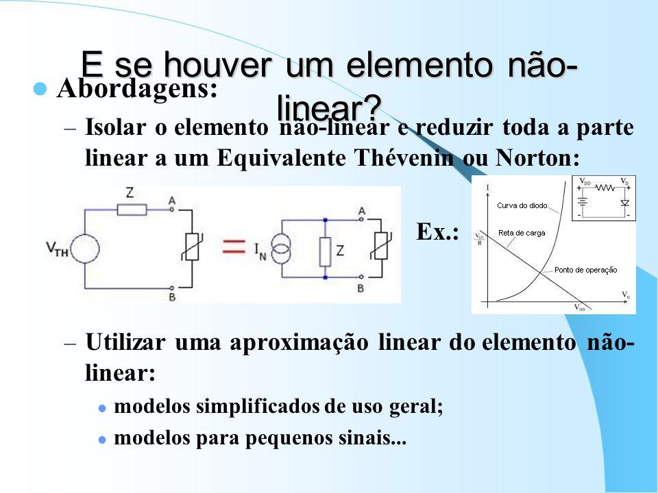 E se houver um elemento não-linear