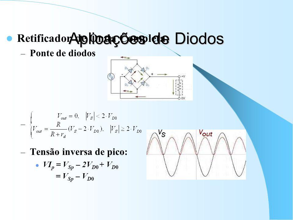 Aplicações de Diodos Retificador de Onda Completa: Ponte de diodos
