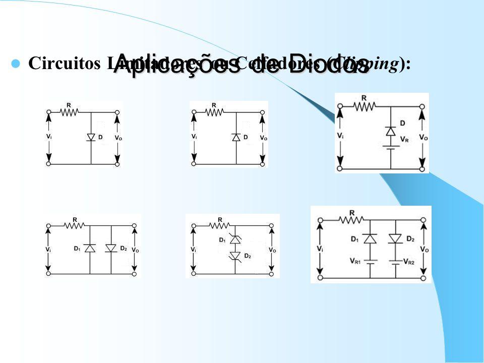 Aplicações de Diodos Circuitos Limitadores ou Ceifadores (Clipping):
