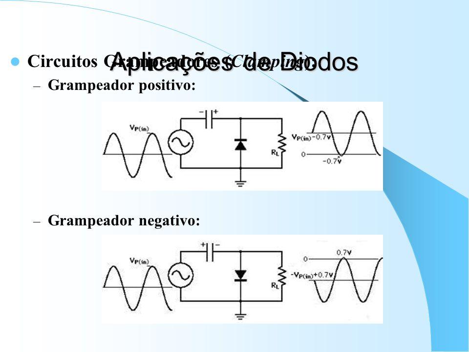 Aplicações de Diodos Circuitos Grampeadores (Clamping):