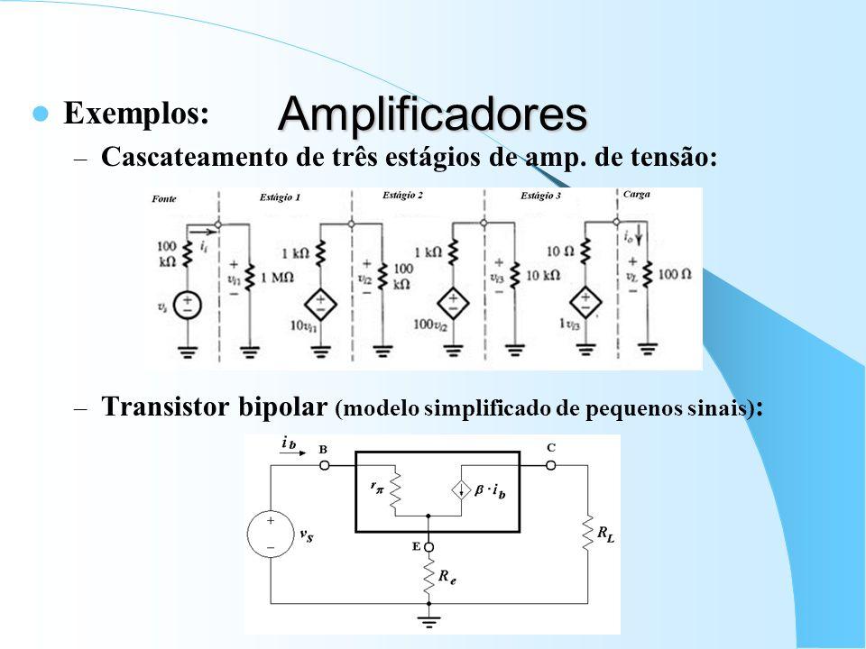 Amplificadores Exemplos: