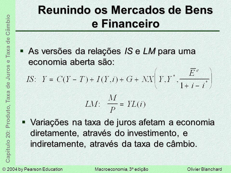 Reunindo os Mercados de Bens e Financeiro