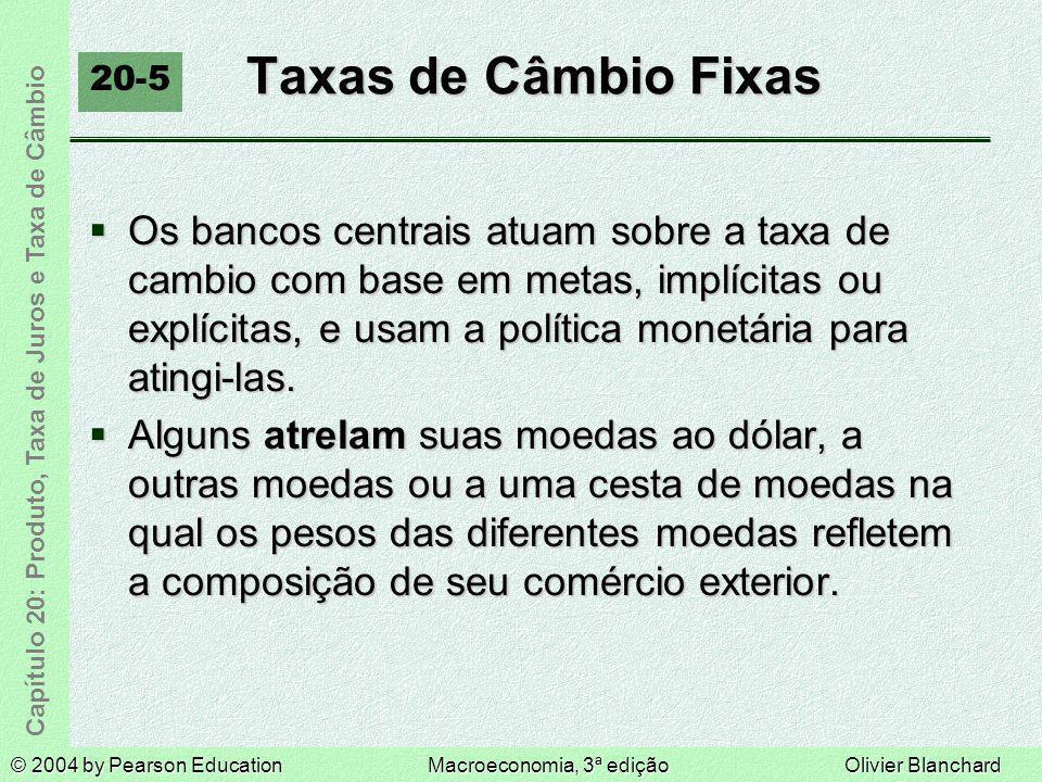 Taxas de Câmbio Fixas 20-5.