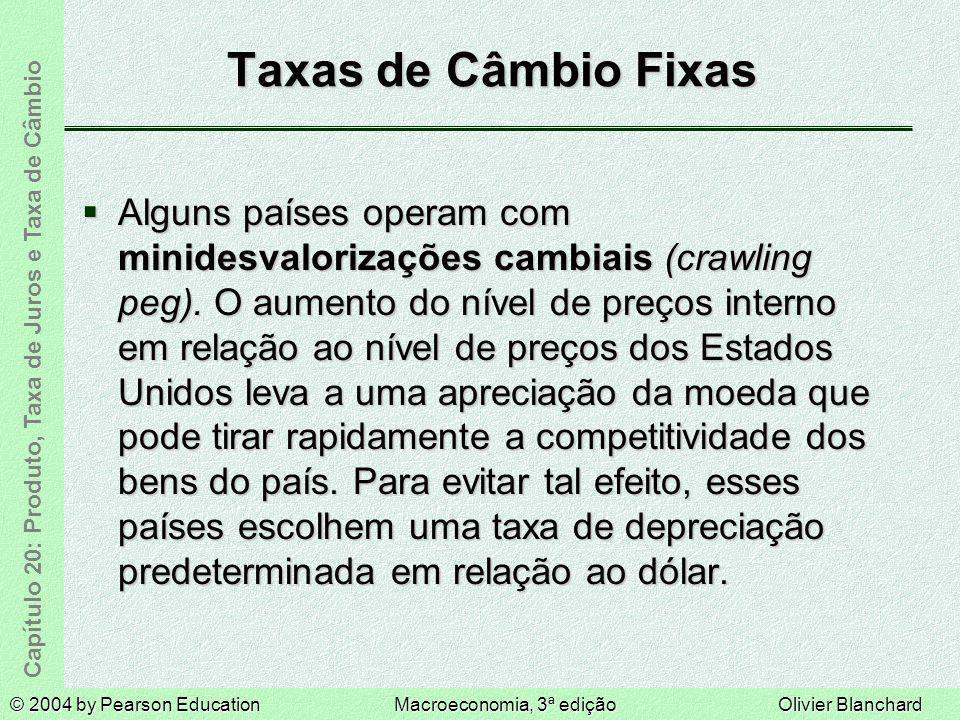 Taxas de Câmbio Fixas