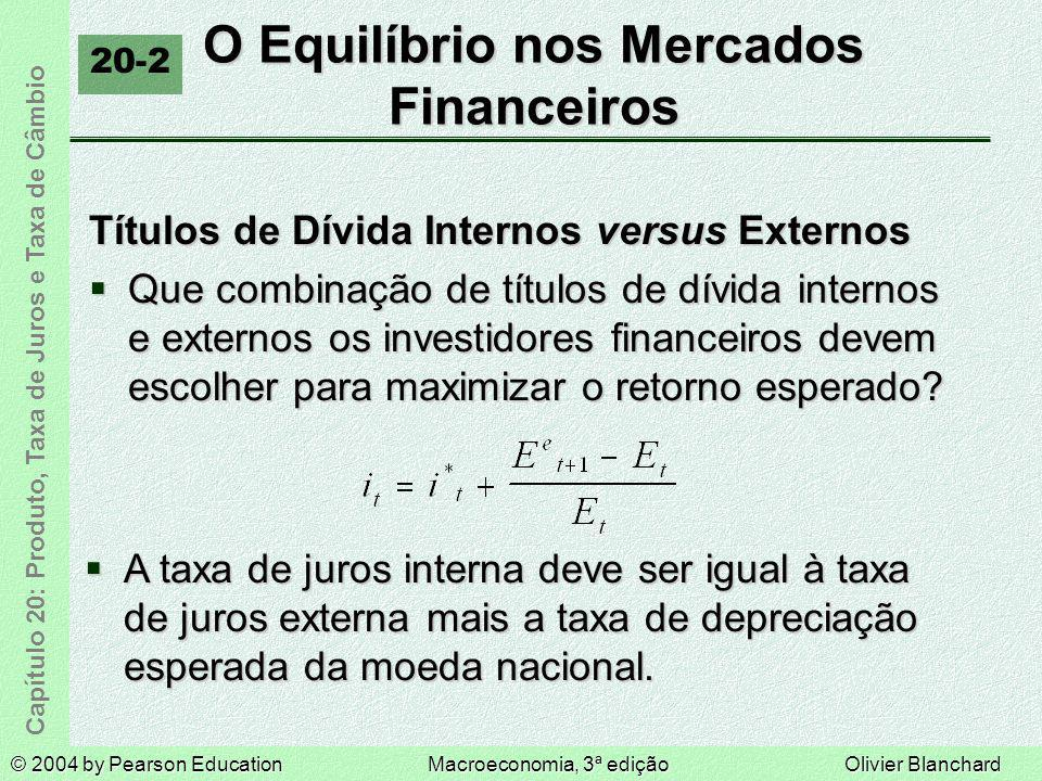 O Equilíbrio nos Mercados Financeiros