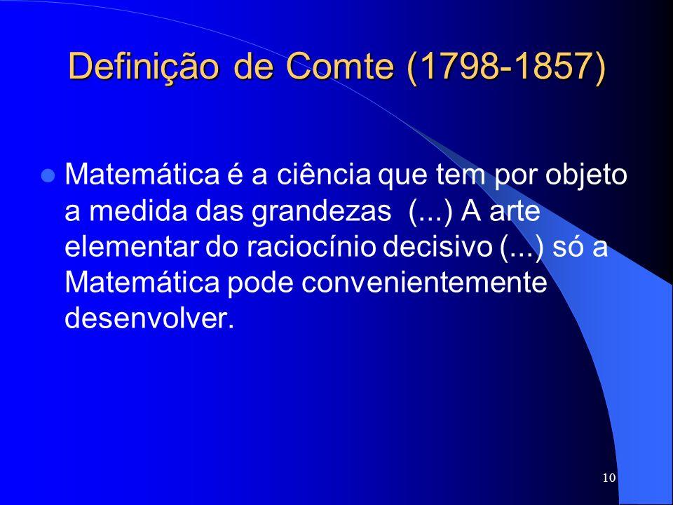 Definição de Comte (1798-1857)