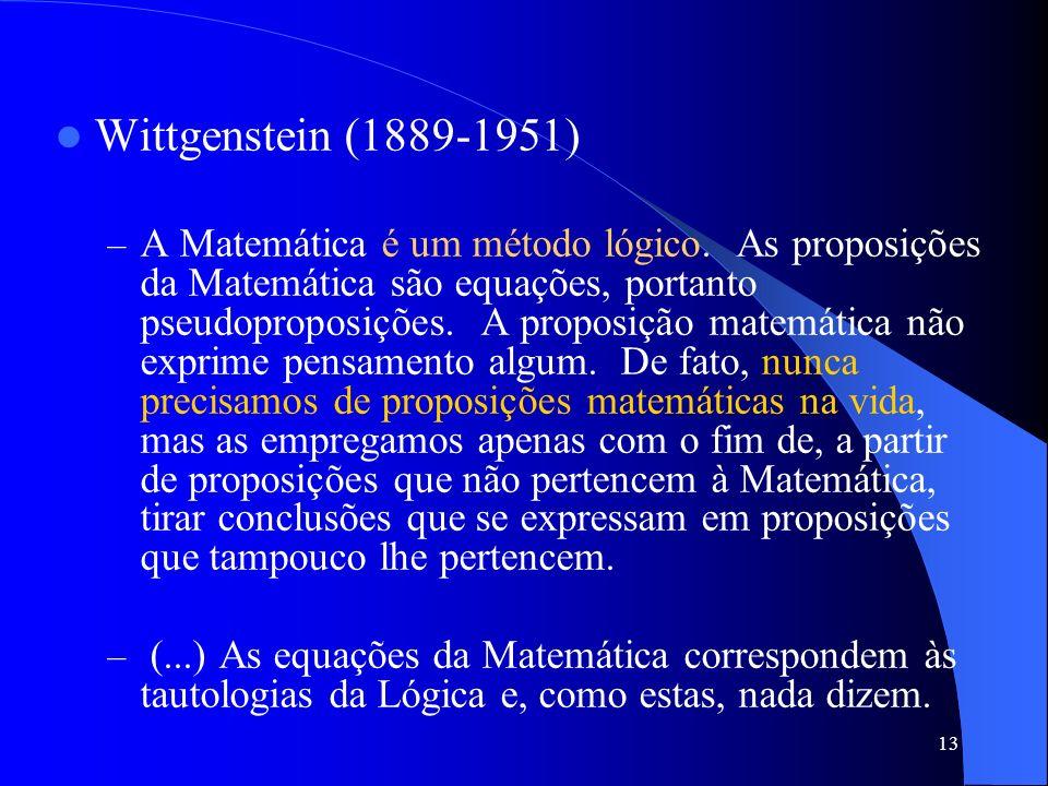 Wittgenstein (1889-1951)