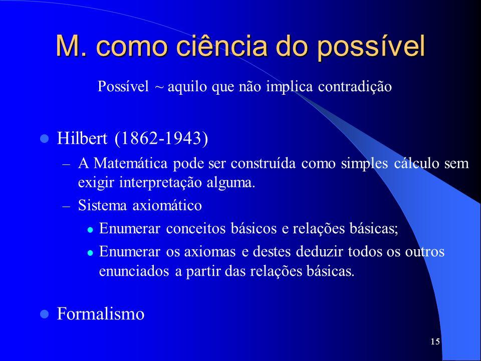 M. como ciência do possível