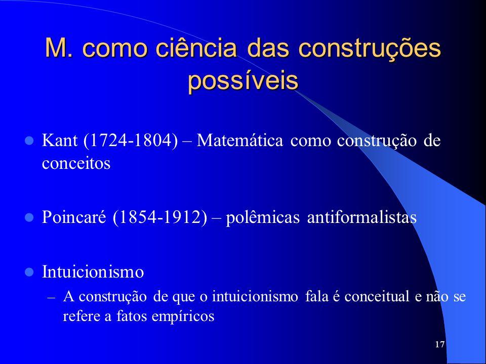 M. como ciência das construções possíveis