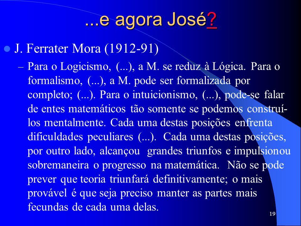 ...e agora José J. Ferrater Mora (1912-91)