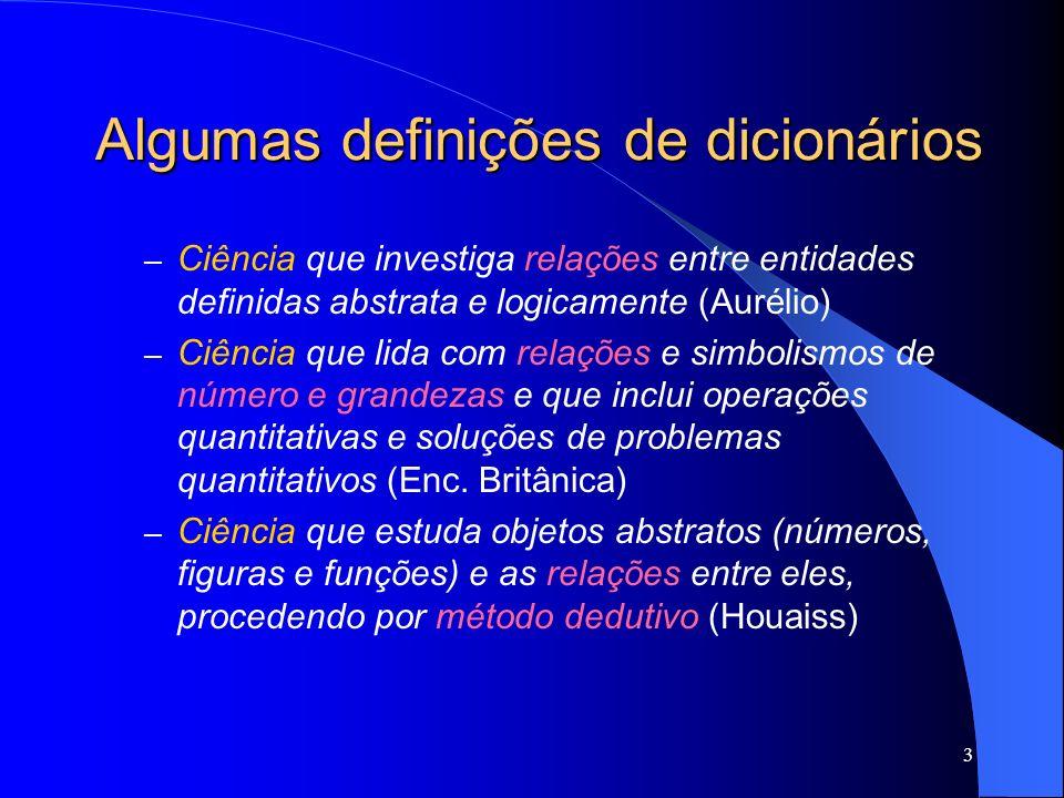 Algumas definições de dicionários