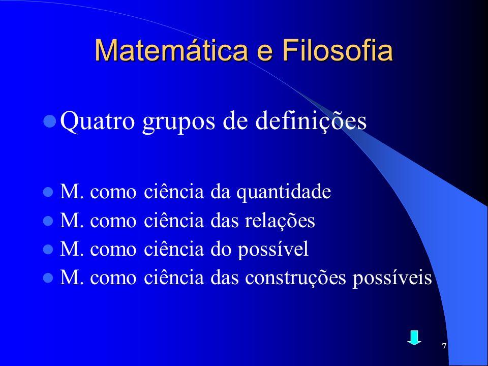Matemática e Filosofia