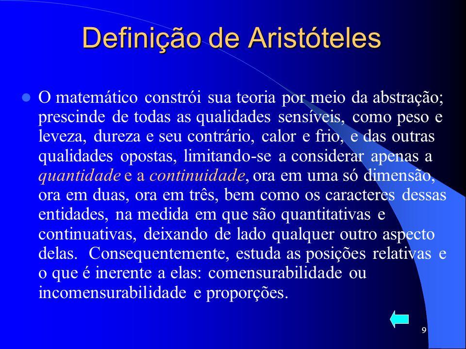Definição de Aristóteles