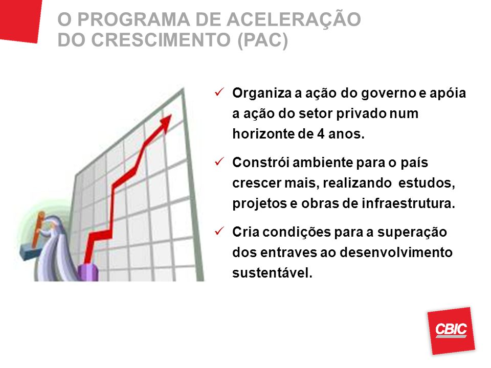 O PROGRAMA DE ACELERAÇÃO DO CRESCIMENTO (PAC)