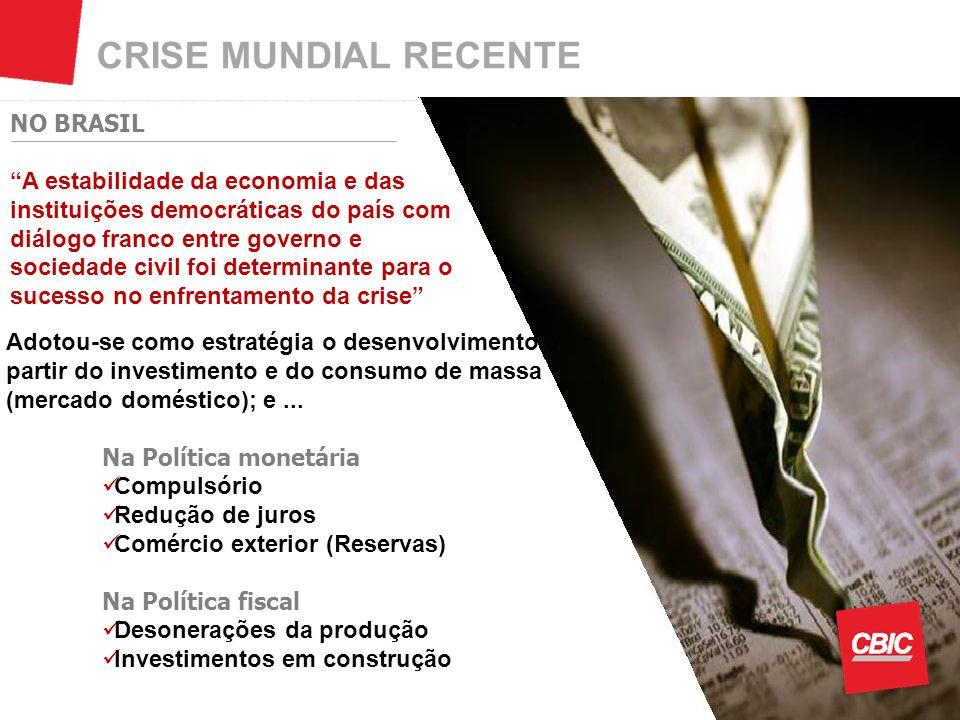 CRISE MUNDIAL RECENTE NO BRASIL