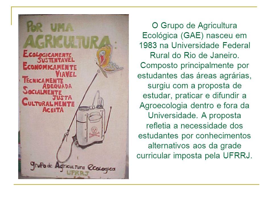 O Grupo de Agricultura Ecológica (GAE) nasceu em 1983 na Universidade Federal Rural do Rio de Janeiro.