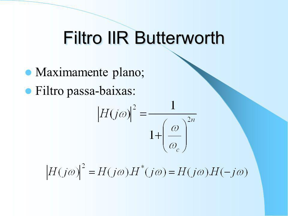 Filtro IIR Butterworth